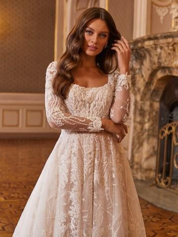 Extravagant Wedding Dresses for 2021 2022 – Val Stefani – Bridal Musings – D8275 C