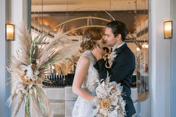 Modern Art Deco Wedding Inspiration at Burgh Island Hotel in Devon – Jennifer Jane Photography 4