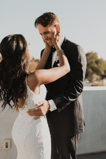 Modern Hollywood Rooftop Elopement During COVID-19 – Julia Green Photography 13