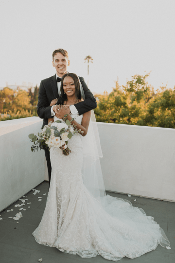 Modern Hollywood Rooftop Elopement During COVID-19 – Julia Green Photography 36