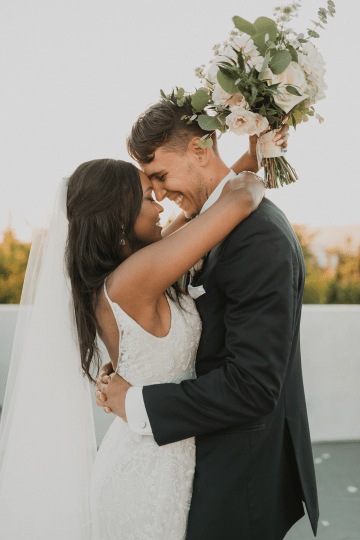 Modern Hollywood Rooftop Elopement During COVID-19 – Julia Green Photography 39