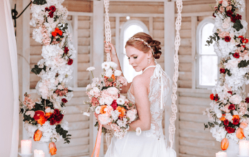 Citrus & Peach Spring Wedding Inspiration From Germany