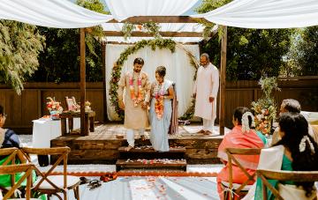 Intimate Indian Backyard Wedding
