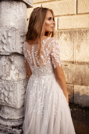 Ultra-Stylish New Wedding Dresses By Mila Bridal (For Under 1000) – Goldie Dress – Bridal Musings 6