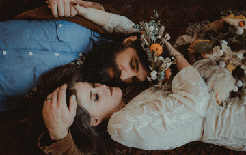 Yes, Grooms Can Wear Flower Crowns, Too! Just See This Stylish 1970s Inspiration…