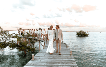 A Breathtaking Sunrise Wedding Over The Waters Of Mozambique