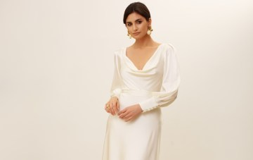 Luxe Details Give This Minimalist Wedding Dress Collection That 'Bridal Feel'