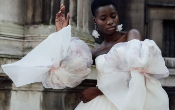 Painted Floral Wedding Dresses Are Blooming This Bridal Season