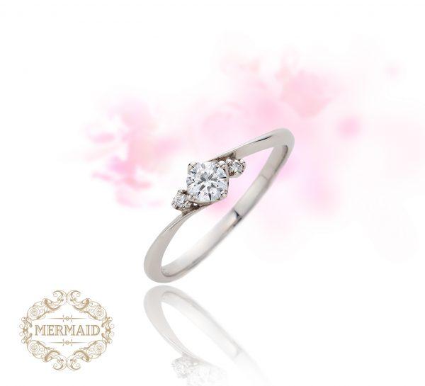 マーメイド,エンゲージリング,ダイアモンド,割引,婚約指輪,シンプル,ブライダル