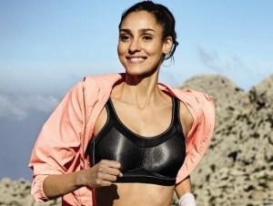 runner in anita care sports bra