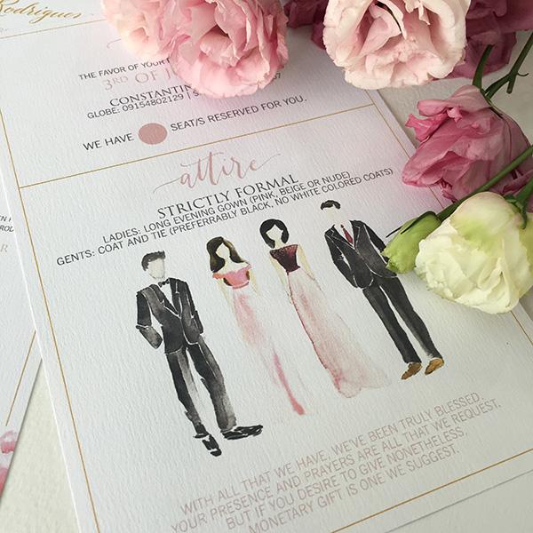 Wedding Attire Wording Invitation