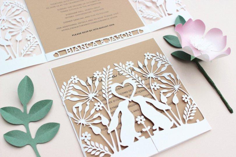 Laser Cut Tree Wedding Invitations Uk