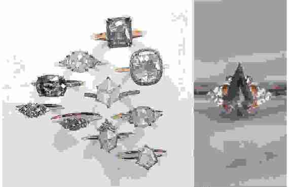50 Shades of Grey: Μοναδικά Μονόπετρα με Γκρι Διαμάντι