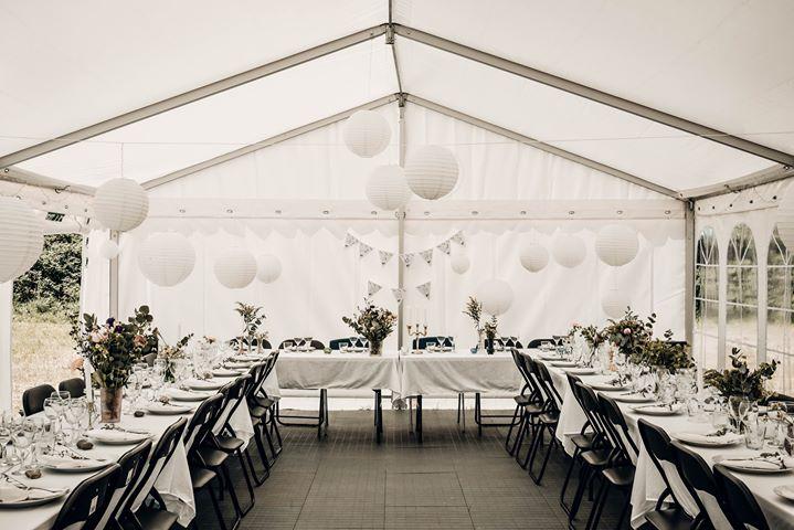 Pynt i telt fra Din havefest