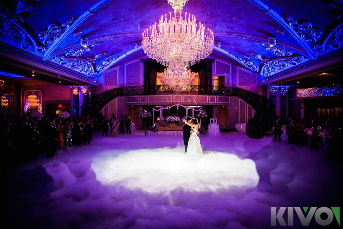 brudepar på dansegulv