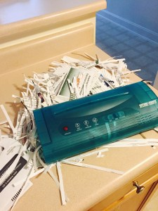 When you're home, you can finally shred your credit card offers.
