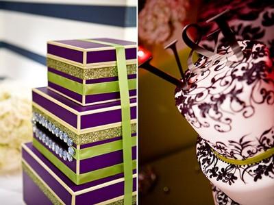 Card box and wedding cake
