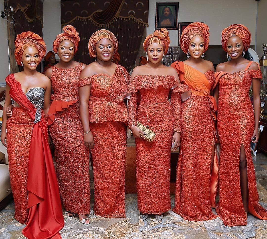 Burnt Orange Aso-ebi Styles? Oh Yes! These Styles Are Super Awesome | MOMO AFRICA | Nigeria Wedding | Naija Weddings