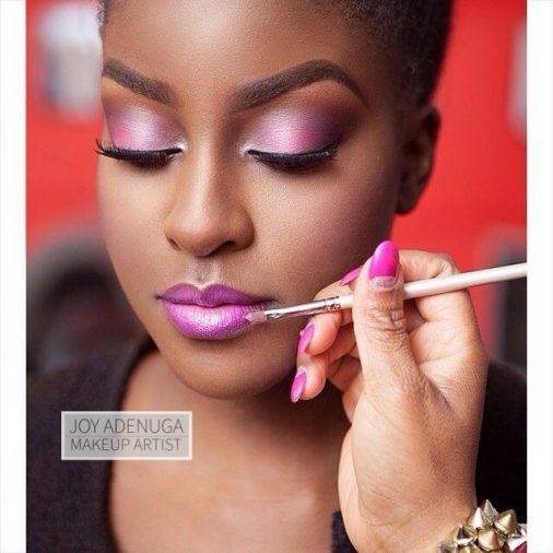 bridal pink for black skin, black makeup artist london, makeup artist for black skin, pink on dark skin, london wedding makeup artist for black skin