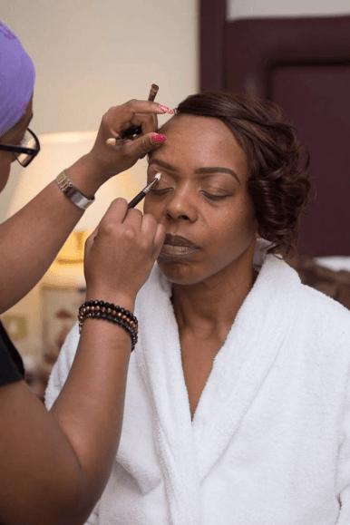 sandra's wedding, black bride, makeup for black skin, black makeup artist london, joy adenuga, bridal makeup for black skin, wedding makeup for dark skin