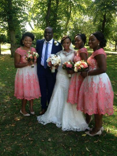 Yemi's Wedding, yoruba bride, black makeup artist london, london makeup artist for black skin, pink lips for black brides