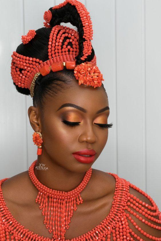 Edo bride, Edo bridal inspiration, Edo Wedding, joy adenuga, Nigerian makeup artist, black bride, black bridal blog london, igbo bride, london black makeup artist, london makeup artist for black skin, black bridal makeup artist london, makeup artist for black skin, nigerian makeup artist london, makeup artist for women of colour