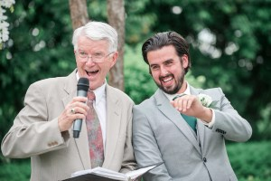 Weddings with Officiant Ray Cross are naturally filled with joy