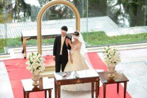 結婚指輪披露