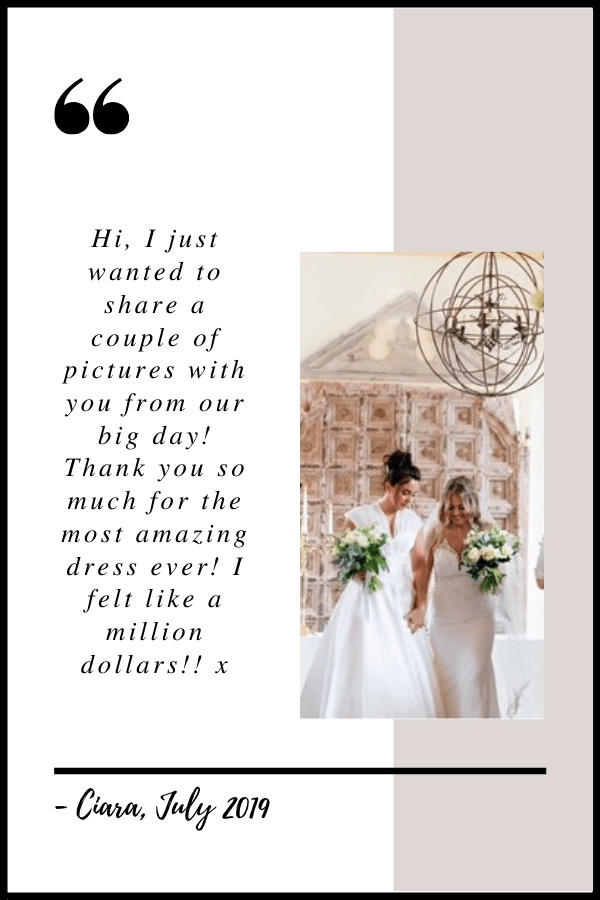 July 2019 Testimonial by Ciara
