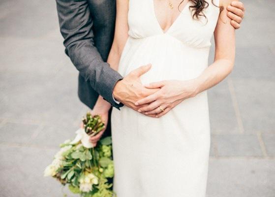 pregnant brides