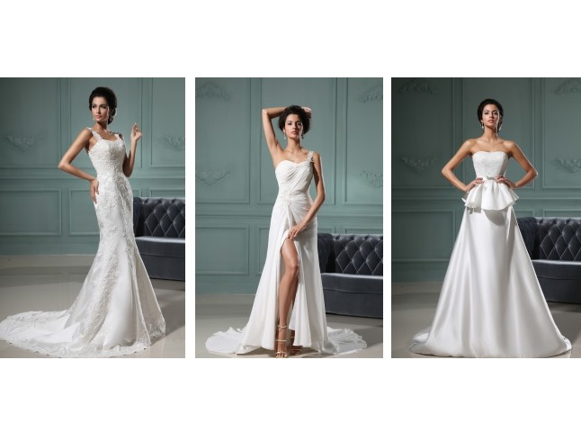 Wedding dress that will fit any bride and flatters your body