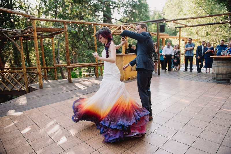 Dip Dye Wedding Dress Trend Makes You Stand Out During Your Wedding