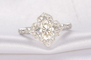 Moissanite versus gemstone engagement rings