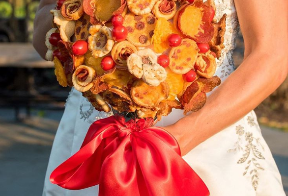 Pizza bouquets