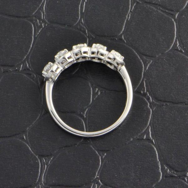 4.10 Ctw White Oval Diamond Halo, Matching Wedding Band 925 Sterling Silver