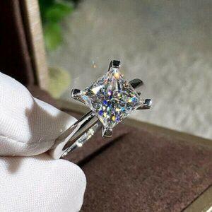 Princess Cut Diamond 4 Prong Solitaire Engagement Ring