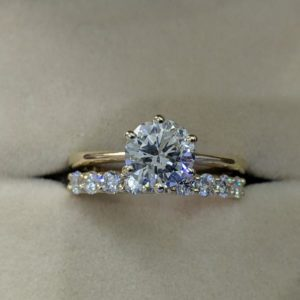 2.68 Ctw White Round Diamond Solitaire Engagement Ring Set Solid 14k Yellow Gold