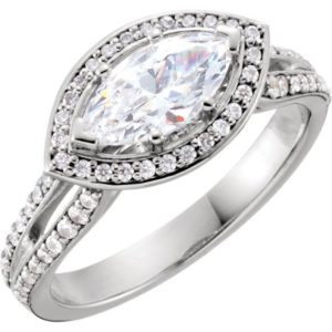 2.50 Ctw Marquise Cut White Diamond Anniversary Engagement Ring 14k Gold Plated