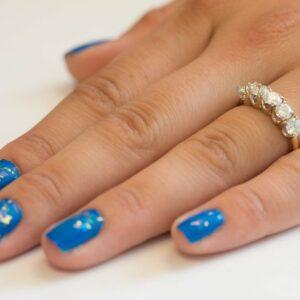 2.00 Carat Brilliant Cut Diamond 5 Stone Anniversary Wedding Ring 14k Yellow Gold Over