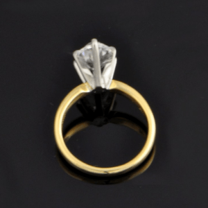 2.10 Carat Solitaire 6 Prong Marquise Cut Diamond Engagement Ring 14k Yellow Gold