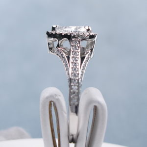 2.43 Ctw Heart Shape Diamond Triple Shank Engagement Ring Solid 10K White Gold