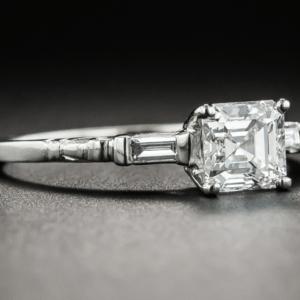 1.90 Ctw Solitaire Asscher Cut Diamond Vintage Engagement Ring 925 Sterling Silver