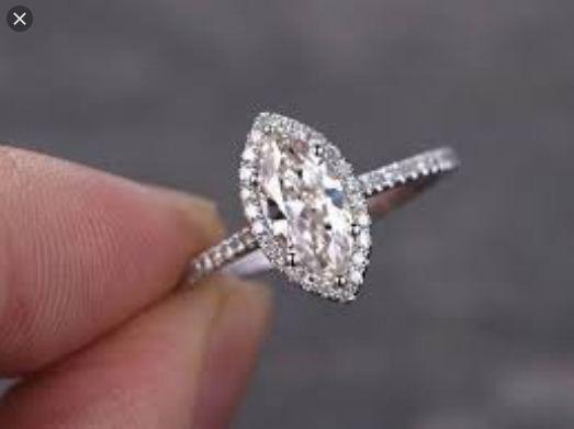 2.58 ctw Marquise Cut White Diamond Engagement Ring Wedding Set Solid 14k White Gold