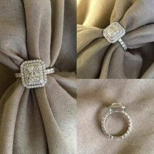2.56 Ctw Radiant Cut Diamond Double Halo Luxury Engagement Ring Solid 14k White Gold