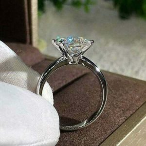 Fancy 2.10 Ctw Princess Cut Diamond Solitaire Engagement Ring Real 10k White Gold