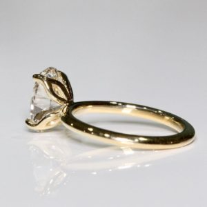 Forever 3.00 Carat Solitaire Oval Cut Diamond Fancy Engagement Ring Solid 14k Yellow Gold