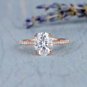 2.30 Carat Oval Cut Diamond Double 4-Prong Solitaire Engagement Ring Solid 14k Rose Gold