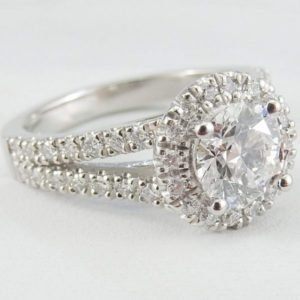 Classic 2.60 Ctw Round White Diamond Wedding Engagement Ring Solid 10k White Gold