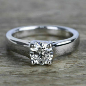 2.00 carat Excellent Cut Round Diamond Best Engagement Ring 14k White Gold Over