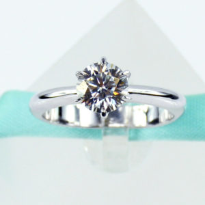 2.00 carat Brilliant Cut Round Diamond Solitaire Engagement Ring 14k White Gold Over